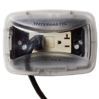 Intermatic WP3100C- Weatherproof Receptacle Cover - Single Gang - Clear - 2-3/4 in. Standard Depth