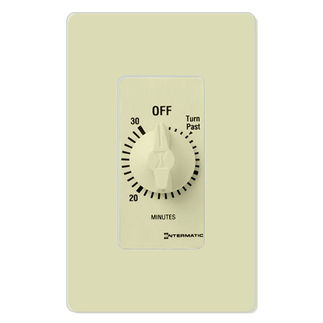 Intermatic FD30MAC - Spring Wound Auto-Off Timer - 30 Min Time Cycle - SPST - Almond