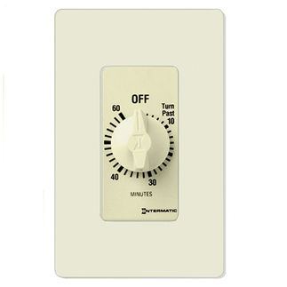 Intermatic FD60MAC - Spring Wound Auto-Off Timer - 60 Min. Time Cycle - SPST - Almond