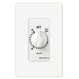 Intermatic FD30MWC - Spring Wound Auto-Off Timer - 30 Min. Time Cycle - SPST - White