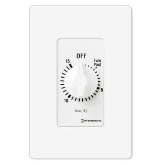 Intermatic FD15MWC - Spring Wound Auto-Off Timer - 15 Min. Time Cycle - SPST - White