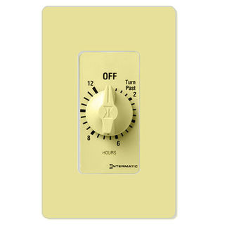 Intermatic FD12HC - Spring Wound Auto-Off Timer - 12 Hr. Time Cycle - SPST - Ivory