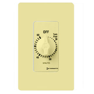 Intermatic FD60MC - Spring Wound Auto-Off Timer - 60 Min Time Cycle - SPST - Ivory
