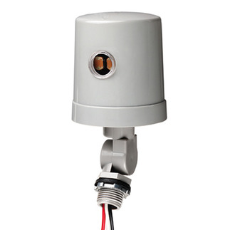 Intermatic K4236C - Photo Control - Thermal Type Photocell - Stem and Swivel Mounting - Dusk-To-Dawn - 120 or 208-277 Volt