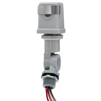 Intermatic K4221C - Photo Control - Thermal Type Photocell - Stem and Swivel Mounting - Dusk-To-Dawn - 120 Volt