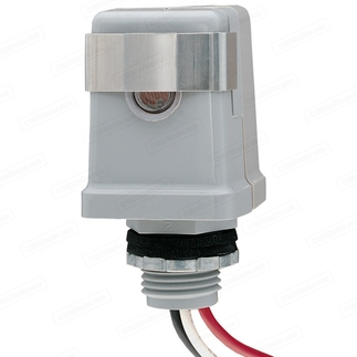 Intermatic K4123C - 1/2 in. Photo Control - Thermal Type Photocell - Stem Mounting - Dusk-To-Dawn - 208-277 Volt