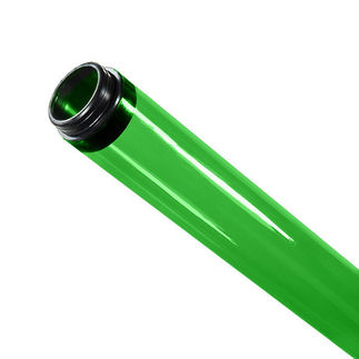 96 in. - T8 - Green - Tube Guard with End Caps - Colored Plastic Lamp Sleeve