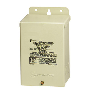 Intermatic PX100 - Low Voltage Safety Transformer - 100 Watt - Steel - Beige Finish