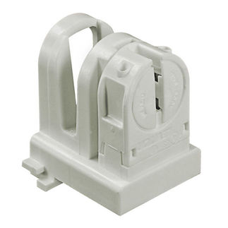 T8 to T5 - Lamp-Lock Lamp Adapter - Mini Bi-Pin Socket - Non-Shunted - For Programmed Start Ballasts - Leviton 13654-EXS