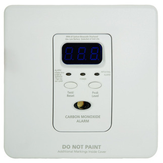 Silhouette Low Profile Carbon Monoxide Alarm - Detects CO Hazard - 120V Wire-in with Battery Backup - Interconnectable - Kidde KN-COPF-i