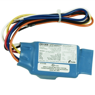 Carbon Monoxide Alarm Relay Module - Activates Auxiliary Warning Devices - For Use with Kidde CO Alarms - Kidde CO120X