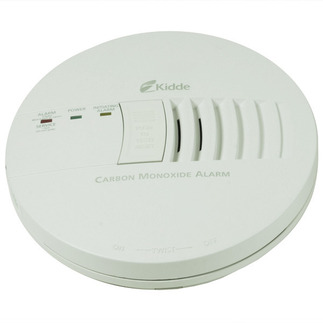 Carbon Monoxide Alarm - Detects CO Hazard - 120V Wire-in with Battery Backup - Interconnectable - Kidde KN-COB-IC