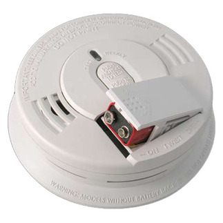 Smoke Alarm - Single Sensor - Detects Flaming Fires - 120V Wire-in with Battery Backup - Front Battery Access - Interconnectable - Kidde i12060
