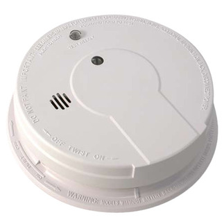 Smoke Alarm - Single Sensor - Detects Flaming Fires - 120V Wire-in with Battery Backup - Interconnectable - Kidde i12040