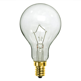 40 Watt - A15 - Clear - 130 Volt - 1,500 Life Hours - Appliance and Ceiling Fan Bulb - Candelabra Base - PQB L2764