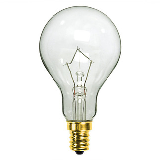 60 Watt - A15 - Clear - 130 Volt - 1,500 Life Hours - Appliance and Ceiling Fan Bulb - Candelabra Base - PQB L2766