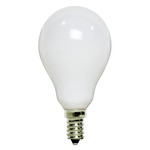 25 Watt - A15 - White - 120 Volt - 1,500 Life Hours - Appliance and Ceiling Fan Bulb - Candelabra Base - PQB L2993
