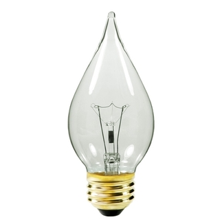 Sparklite - 40 Watt - Clear - C15 Straight Tip - Medium Base - 130 Volt - 6,000 Life Hours - Chandelier Light Bulb - DURO LITE by Litetronics LS4056