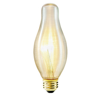 75 Watt - H19 - Chimney Frosted - 130 Volt - 6,000 Life Hours - Medium Base - Chandelier Decorative Light Bulb - Litetronics LS-4152