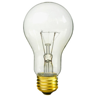 60 Watt - Clear - A19 Light Bulb - 130 Volt - 6,000 Life Hours - Litetronics LS4170-2