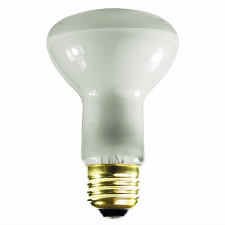 28 to 30 Watt - R20 Long Neck - Reflector Flood - 120 Volt - 9,000 Life Hours - Medium Base - Incandescent Light Bulb - Litetronics L-795