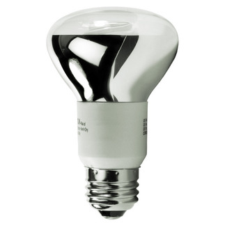 Dimmable - 5 Watt - R20 CCFL - 30 W Equal - 2250K Warm White - 82 CRI - 39 Lumens per Watt - 25,000 Life Hours - 24 Month Warranty - Litetronics MicroBrite MB-510DL Dimmable CFL CCFL Bulb