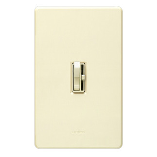 Lutron Ariadni AY-603P-AL - 3 Way - Incandescent Dimmer - Toggle and Slide Switch - 600 Watt - Almond
