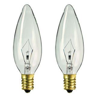 Satco S4713 - 60 Watt - B10 - Clear - Straight Tip - European Base - 1,500 Life Hours - 672 Lumens - 120 Volt - 2 Pack