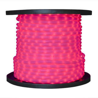(12 Volt) Pink - Rope Light - 1/2 in. - 2 Wire - 150 ft. Spool