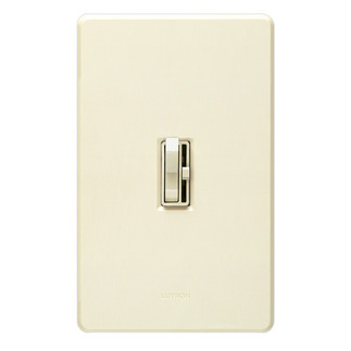 Lutron Ariadni AY-600P-LA - Single Pole - Incandescent Dimmer - Toggle and Slide Switch - 600 Watt - Light Almond