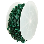 C9 Stringer - 500 Foot - 500 Sockets - 12 in. Spacing - Green Wire - SPT-2 - Commercial Christmas Lights - Christmas Lite Co. 100SL52C912G