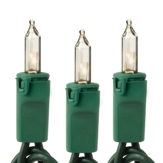 (50) Bulbs - Clear Mini Lights - Length 25 ft.