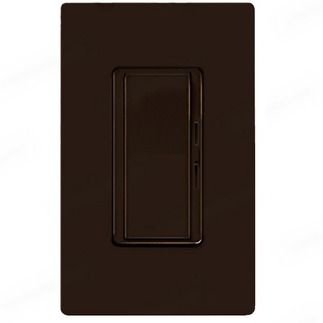 Lutron Diva DV-600P-BR - Single Pole - Incandescent Dimmer - Paddle and Slide Switch - 600 Watt - Brown