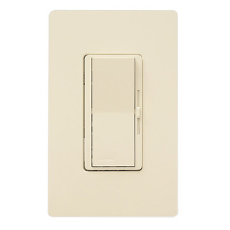 Lutron Diva DV-600P-IV - Single Pole - Incandescent Dimmer - Paddle and Slide Switch - 600 Watt - Ivory