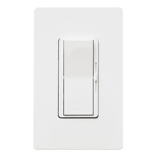 Lutron Diva DVELV-300P-WH - Single Pole - Electronic Low Voltage Dimmer - Paddle and Slide Switch - 300 Watt - White