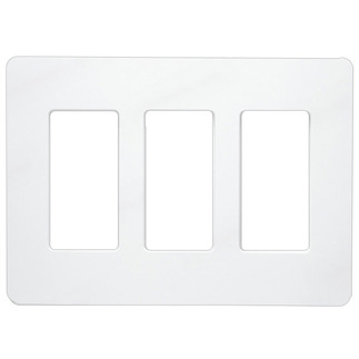 Lutron CW-3-WH - Claro Three-Gang Wallplate - White