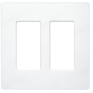 Lutron CW-2-WH - Claro Two-Gang Wallplate - White