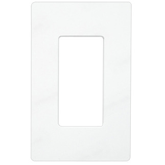 Lutron CW-1-WH - Claro One-Gang Wallplate - White