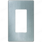 Lutron CW-1-SS -  Claro One-Gang Wallplate - Stainless Steel