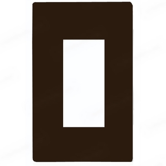 Lutron CW-1-BR - Claro One-Gang Wallplate - Brown
