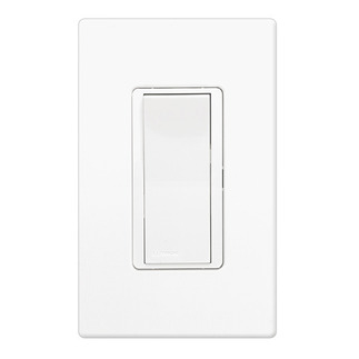 Lutron CA-1PSH-WH - Claro General Purpose Switch - Paddle Switch - Single Pole - 15 Amps - 120/277 Volt - White
