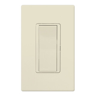 Lutron CA-1PSH-LA - Claro General Purpose Switch - Paddle Switch - Single Pole - 15 Amps - 120/277 Volt - Light Almond