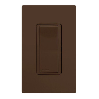 Lutron CA-1PSH-BR - Claro General Purpose Switch - Paddle Switch - Single Pole - 15 Amps - 120/277 Volt - Brown