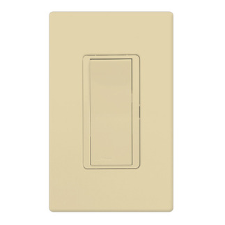Lutron CA-1PSH-IV - Claro General Purpose Switch - Paddle Switch - Single Pole - 15 Amps - 120/277 Volt - Ivory