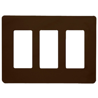 Lutron CW-3-BR - Claro Three-Gang Wallplate - Brown