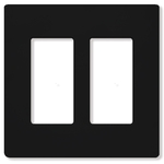 Lutron CW-2-BL - Claro Two-Gang Wallplate - Black