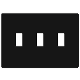 Lutron FW-3-BL - Fassada Three-Gang Wallplate - Black