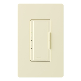 Lutron Maestro MA-600-AL - Multi-Location - Incandescent Smart Dimmer - Tap and Rocker Switch - 600 Watt - Almond