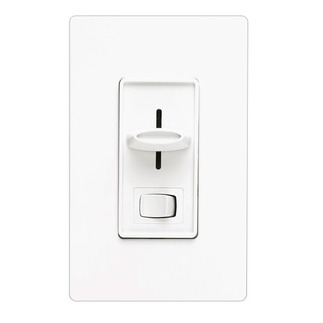 Lutron Skylark SLV-600P-WH - Single Pole - Magnetic Low Voltage Dimmer - Rocker and Slide Switch - 450 Watt - White