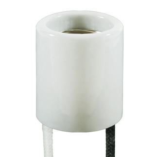 Medium Base Socket - 12 in. Lead - No. 18 AWG - 200 Deg. C - 600V - 4000V Pulse Rated - Used with Standard Metal Halide - Pulse Start Metal Halide - High Pressure Sodium Lamps